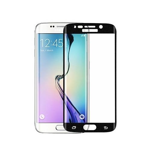 Hartowane szkło na Cały ekran 3D - Galaxy S6 Edge - czarny.