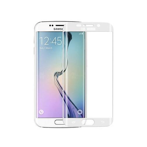 Hartowane szkło na Cały ekran 3D - Galaxy S6 Edge - biały.