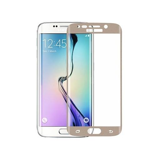Hartowane szkło na Cały ekran 3D - Galaxy S6 Edge - złoty.