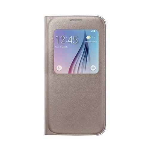 Etui z klapką S-View na Galaxy S6 - złoty.