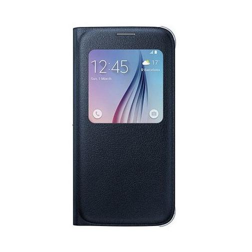 Etui z klapką S-View na Galaxy S6 - czarny.