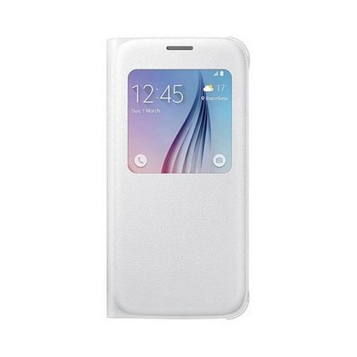 Etui z klapką S-View na Galaxy S6 - biały.