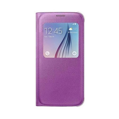 Etui z klapką S-View na Galaxy S6 - różowy.