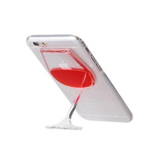 Etui na iPhone 6 / 6s z płynem w środku - czerwone wino.