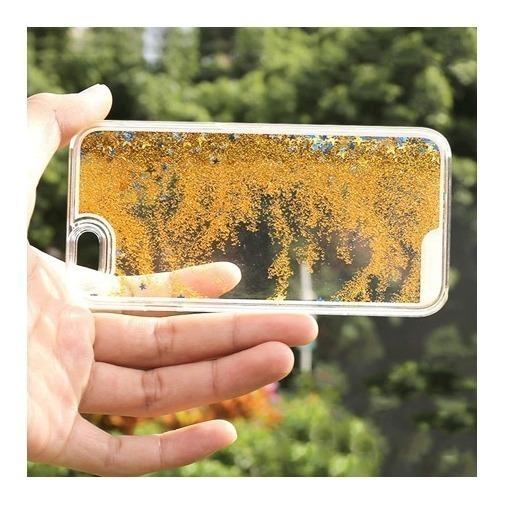 Etui z płynem w środku Stardust na iPhone 6 Plus - złoty.
