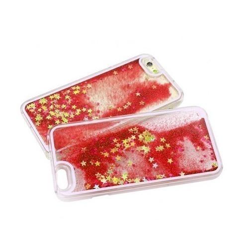 Etui z płynem w środku Stardust na iPhone 6 Plus - czerwony.