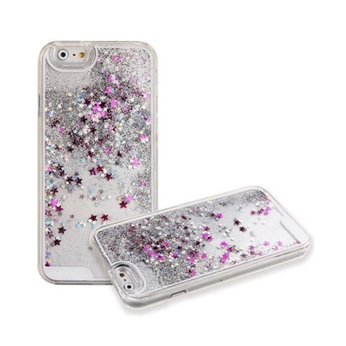 Etui z płynem w środku Stardust na iPhone 6 / 6s - srebrny.