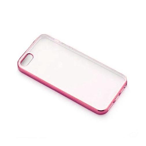 Platynowane etui na iPhone 5 / 5s silikon SLIM - różowy.