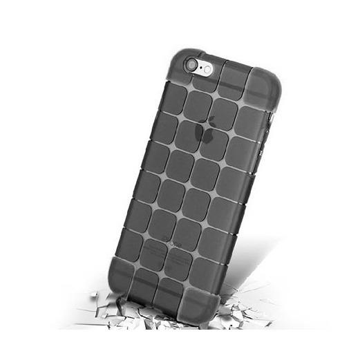 Silikonowe etui Cube na iPhone 6 / 6s - czarny.