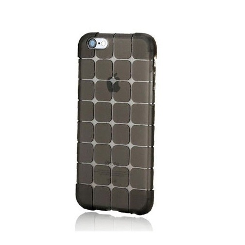 Silikonowe etui Cube na iPhone 5 / 5s - czarny.