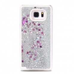 Etui z płynem w środku Stardust na Galaxy S6 - srebrny.