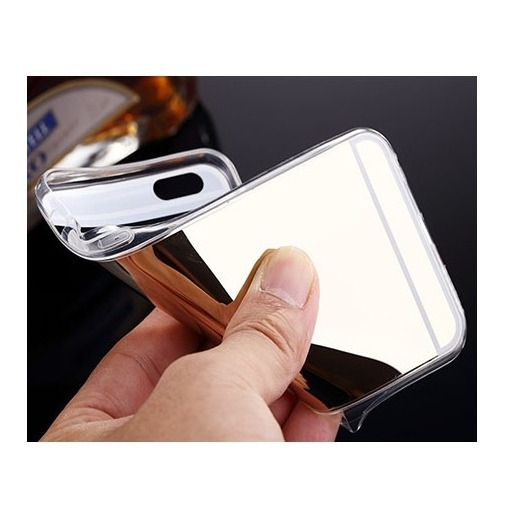 iPhone 5 mirror silikonowe etui lustrzane złote.