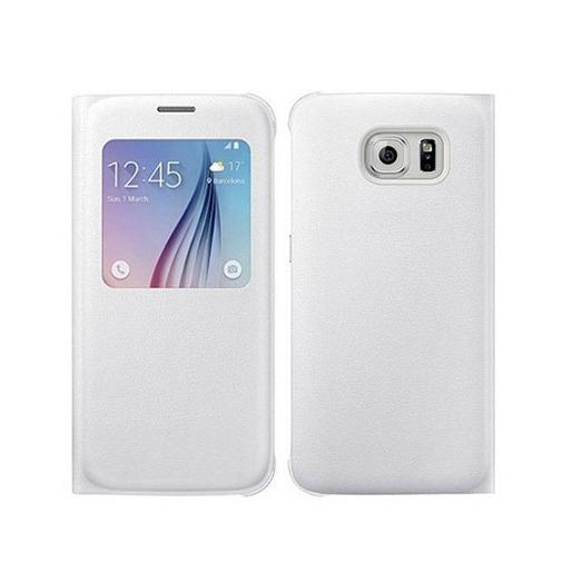 Etui na Galaxy S6 Edge Flip S View z klapką - Biały