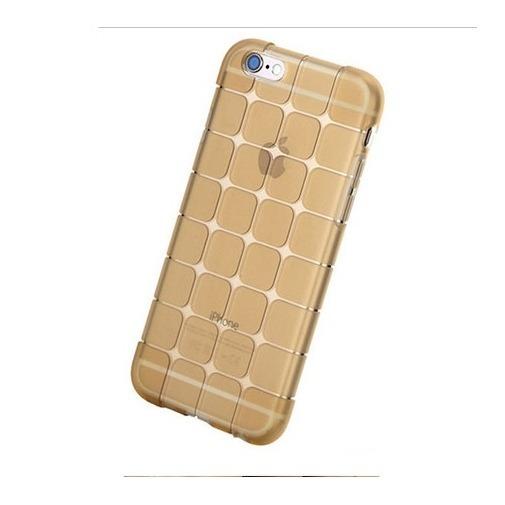 Silikonowe etui Cube na iPhone 6 / 6s - złoty.