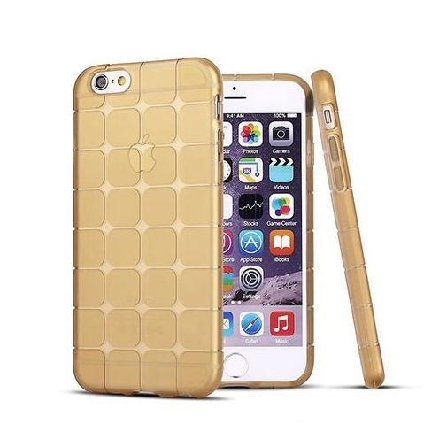 Silikonowe etui Cube na iPhone 6 plus / 6s plus - złoty