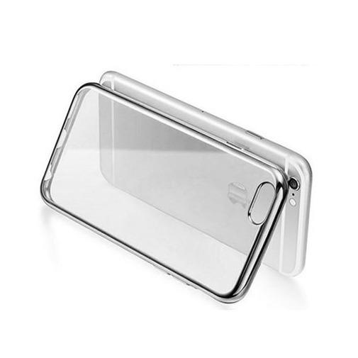 Platynowane etui na iPhone 6 / 6s silikon SLIM - srebrny.