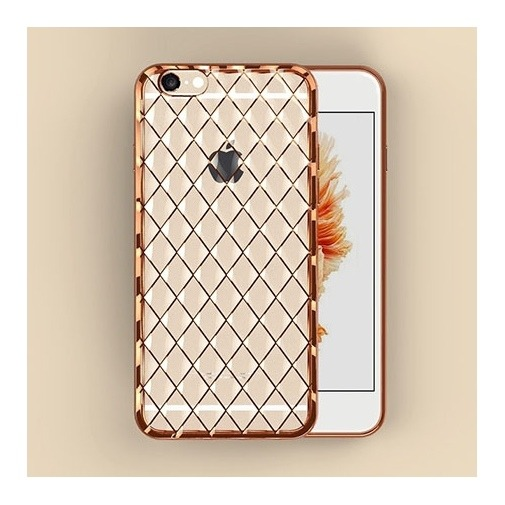 Platynowane etui Diamond case na iPhone 6 / 6s silikon SLIM - złoty.