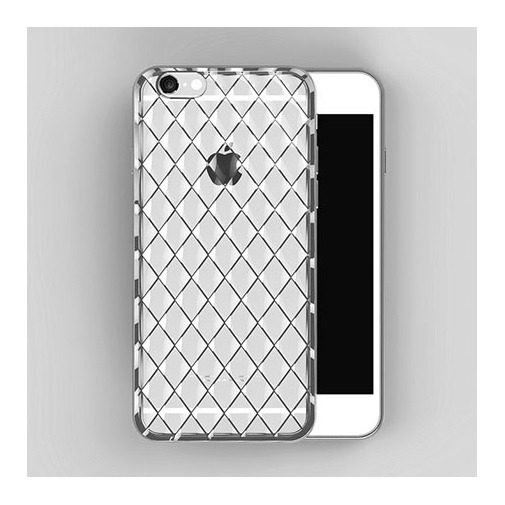 Platynowane etui Diamond case na iPhone 6 / 6s silikon SLIM - srebrne.