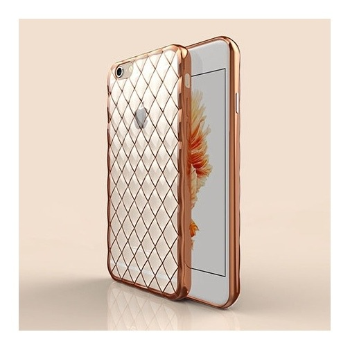 Platynowane etui Diamond case na iPhone 6 Plus silikon SLIM - złote.