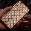Platynowane etui Diamond case na iPhone 6 Plus silikon SLIM - złote.