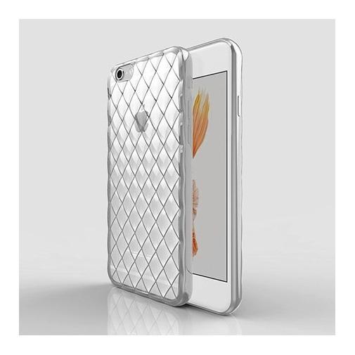 Platynowane etui Diamond case na iPhone 6 Plus silikon SLIM - srebrne.