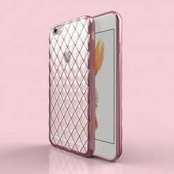 Platynowane etui Diamond case na iPhone 6 Plus silikon SLIM - różowe.