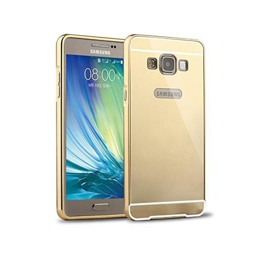Etui na Galaxy A7 Mirror bumper case - Złoty