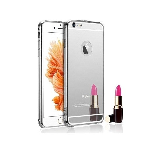 Etui na iPhone 6 Plus Mirror bumper case - Srebrny