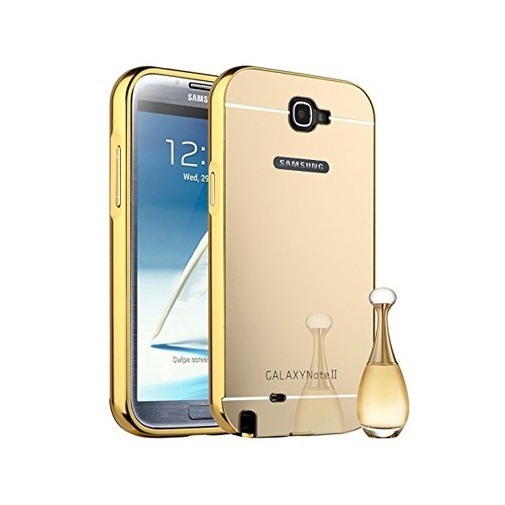 Etui na Galaxy Note 2 Mirror bumper case - Złoty