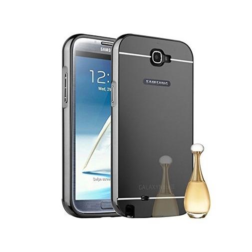 Etui na Galaxy Note 2 Mirror bumper case - Czarny