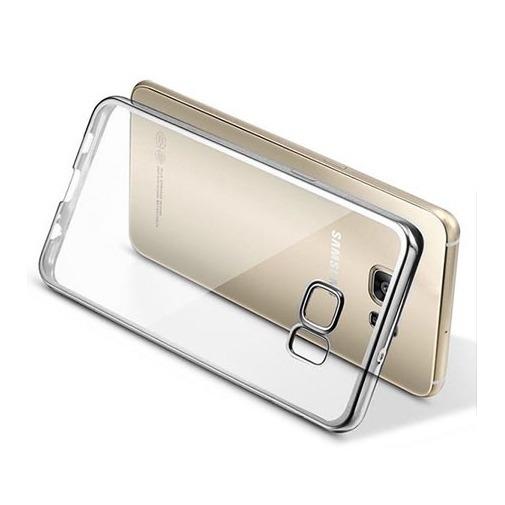Platynowane etui na Galaxy S7 silikon SLIM - srebrny.