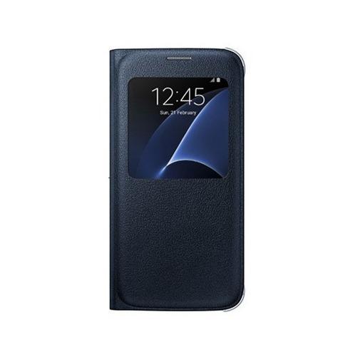 Etui z klapką S-View na Galaxy S7 - czarny.