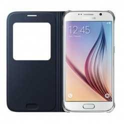 Etui z klapką S-View na Galaxy S7 Edge - czarny.