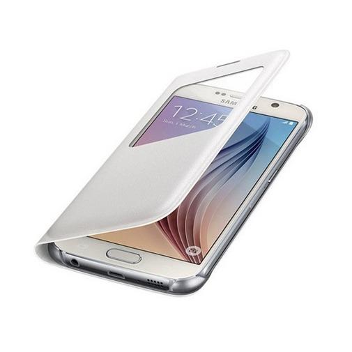Etui z klapką S-View na Galaxy S7 Edge - biały.