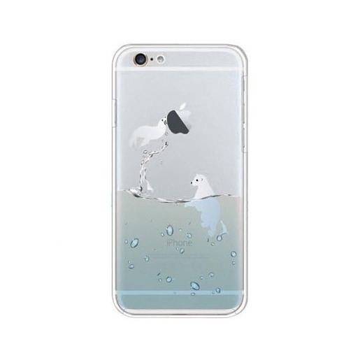 Silikonowe etui z nadrukiem na iPhone 6 / 6s - foka.
