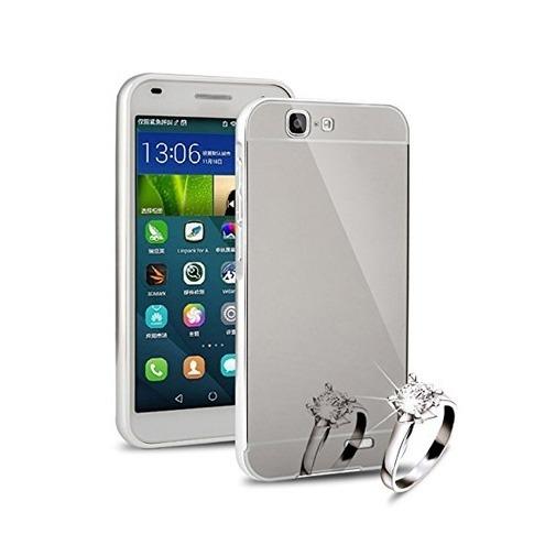 Etui na Huawei G7 Mirror bumper case - Srebrny.