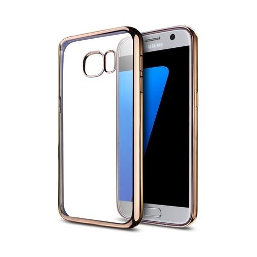 Platynowane etui na Samsung Galaxy S7 silikon SLIM - złoty.