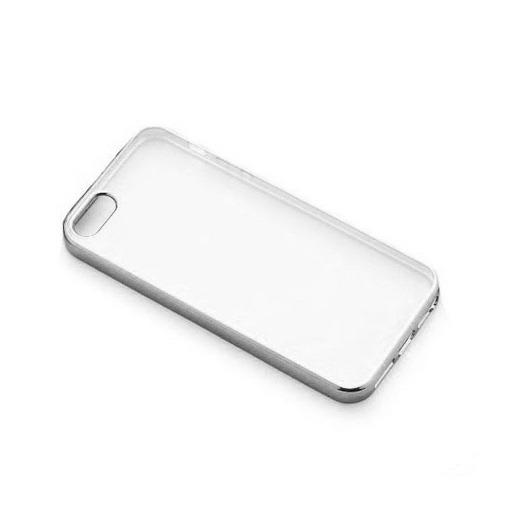 Platynowane etui na iPhone 5 / 5s silikon SLIM - srebrny.