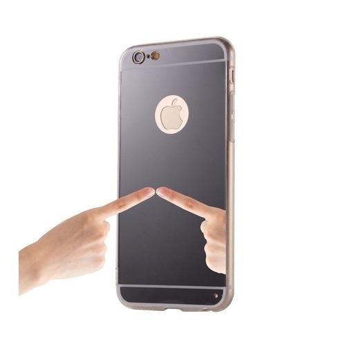 Silikonowe etui lustrzane mirror do iPhone 6 / 6s - czarny.