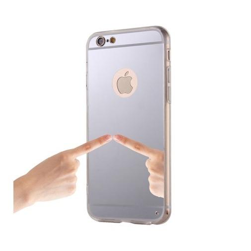 Silikonowe etui na iPhone 6 / 6s lustro - srebrne.