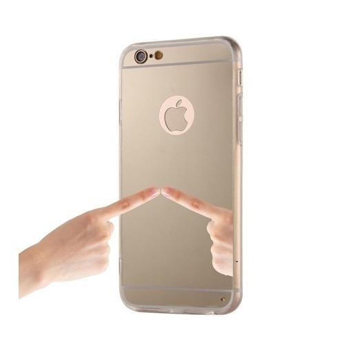 Silikonowe etui lustrzane mirror do iPhone 6 Plus - złoty.