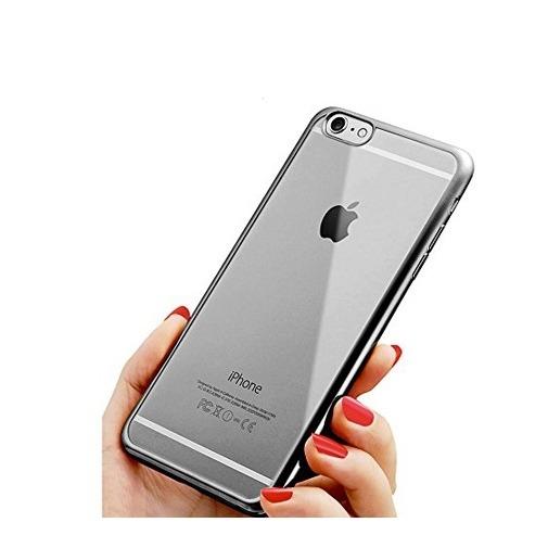Platynowane etui na iPhone 6 / 6s silikon SLIM - złoty.