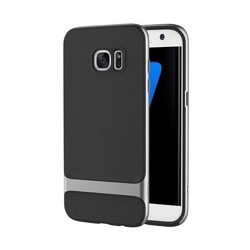 Etui ROCK Royce case na Galaxy S7 Edge - srebrny.