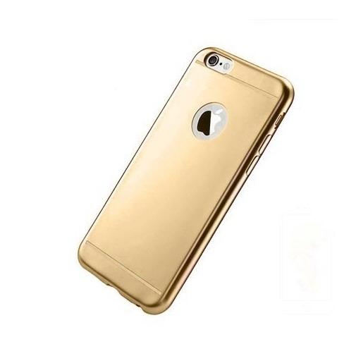 Silikonowe etui na iPhone 6 / 6s platynowane Full - złote.