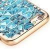 Silikonowe etui na iPhone 6 / 6s platynowane Rozeta - niebieskie.