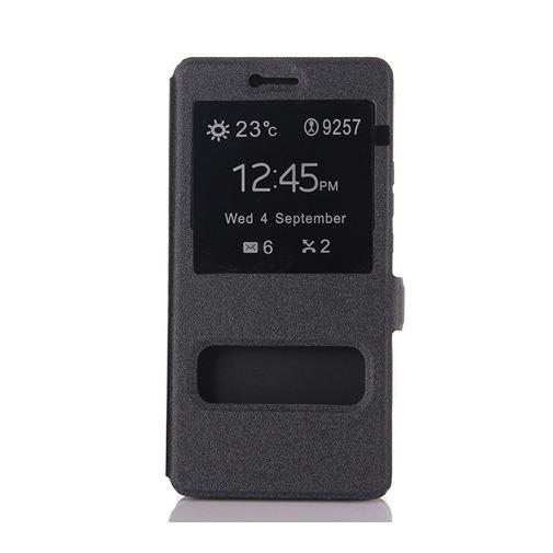 Etui z klapką Quick View na Huawei P9 Lite - czarny.