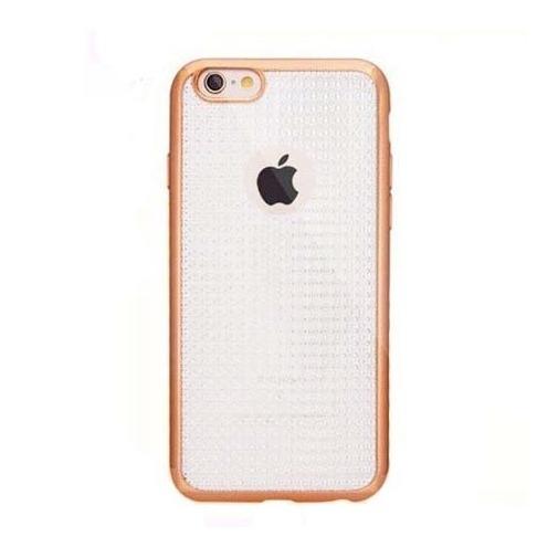 Platynowane etui na iPhone 6 / 6s silikon GLAM - złoty.
