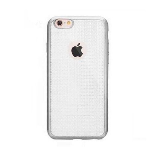 Platynowane etui na iPhone 6 / 6s silikon GLAM - srebrny.