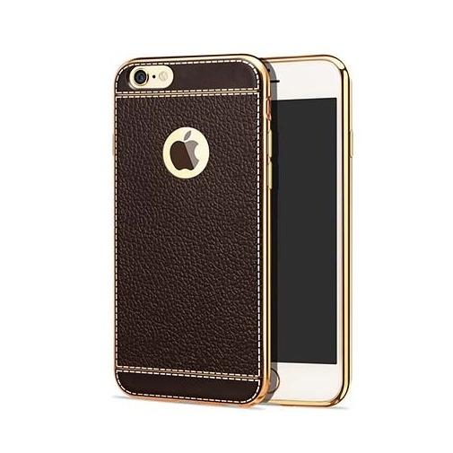 Platynowane etui na iPhone 6 / 6s  SLIM Leather - brązowy.