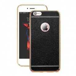 Platynowane etui na iPhone 6 Plus / 6s Plus SLIM Leather - czarny.